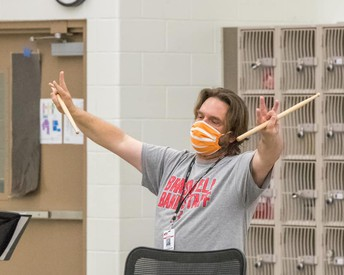 Braswell Percussion Director, Alan Miller