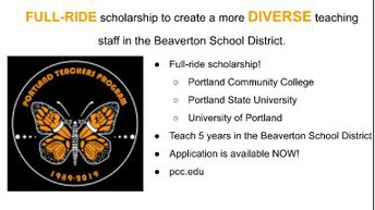 Want to be a teacher?  Full-Ride Scholarship