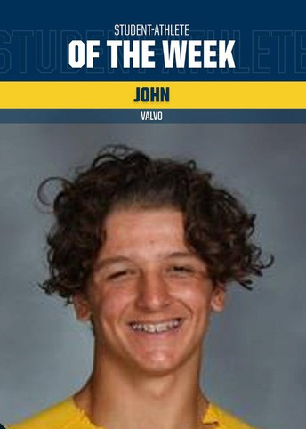 Student Athlete of the Week: Johnny Valvo