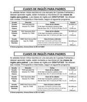 ESL Classes for Parents - Spanish