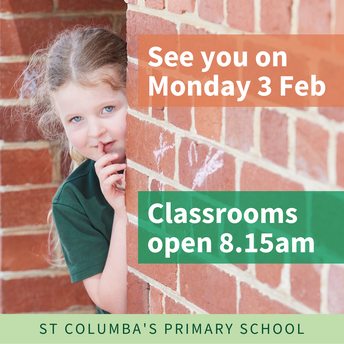 School starts on Monday 3 February