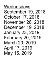 HS Department Chair Dates