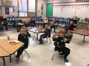 1st grade eating in classrooms