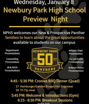 Newbury Park High School Preview Night
