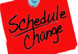 Schedule Changes for 2nd Semester