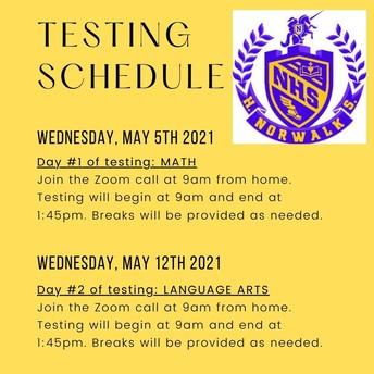 SBAC Testing Schedule