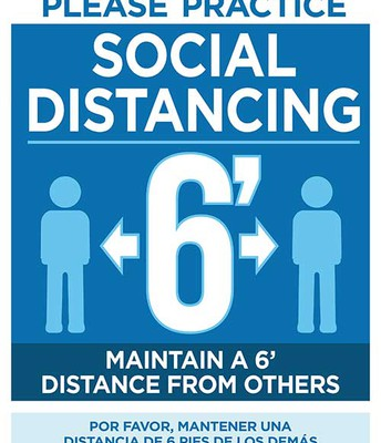 Please maintain Six feet distance from others while on campus