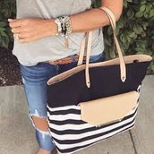 Striped Tote **SOLD**