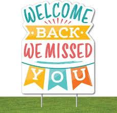 Welcome Back - Nov. 12th