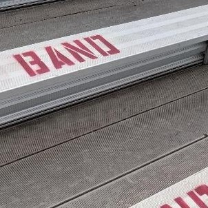 Huge shout out to Sam Taylor for repainting our section on the bleachers.