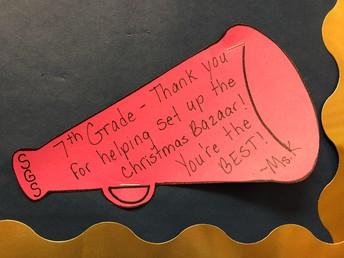 Thank You 7th Grade