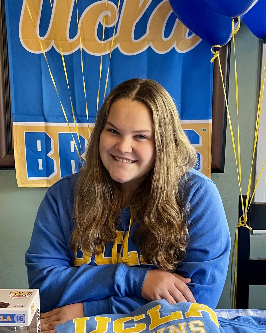 Faith Shortridge, BLMS Class of 2017, is off to UCLA... in case you couldn't figure that out!!