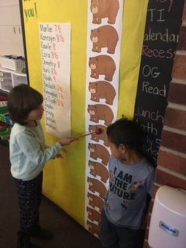 Kindergartners Learn All About Measurement