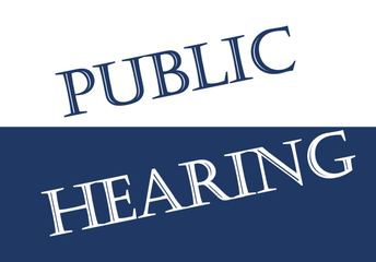 Upcoming Public Hearings