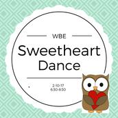Sweetheart Dance - TONIGHT 6:30-8:30