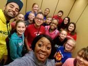 Student Leaders visiting Brookdale