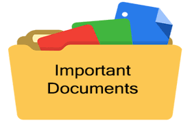 Important Documents for Scheduling