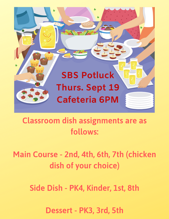 H&S General Meeting & Potluck Dinner- Thursday, September 19th