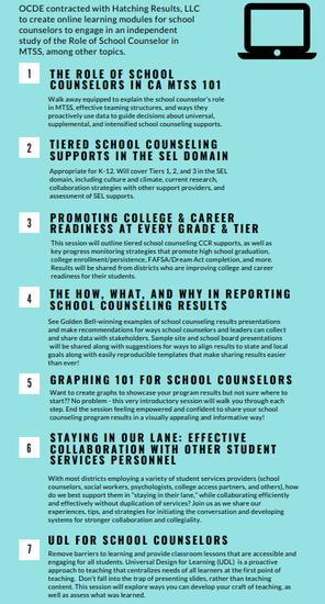 On Demand Webinars for School Counselors