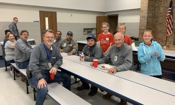 The Red ring served lunch to Central Administration and the Maintenance Crews!