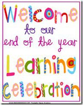 Pre-Registration & Times for End-of-Year Learning Celebrations