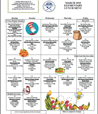 EES Lunch Menu-March