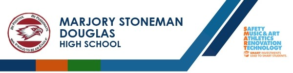 A graphic banner that shows Marjory Stoneman Douglas High School's name and SMART logo