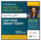 National Library Week April 9-15 2017