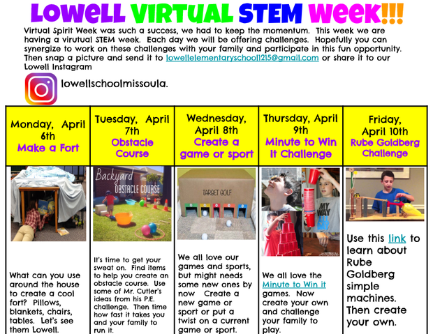 Lowell Virtual Stem Week