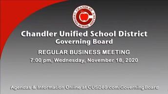 CUSD Governing Board Meeting November 18th