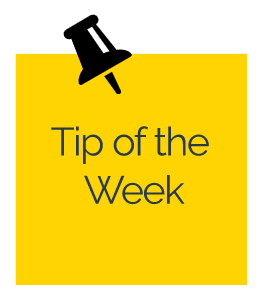 Distance Learning Tip of the Week