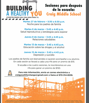 Spanish form for Building a Healthy You