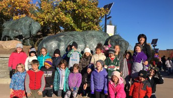 Mrs. Cody's 2nd grade class at the Minnesota Zoo.