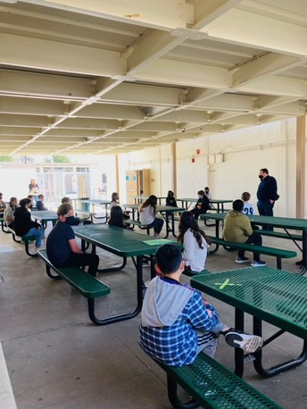 6th Graders Return to Campus, by Leah Ho
