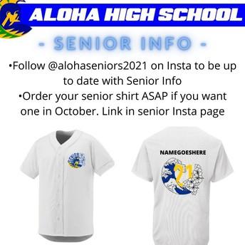 Seniors Get you Shirt Ordered