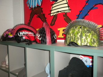 Spiked helmets are awesome