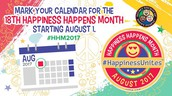 August is Happiness Month!