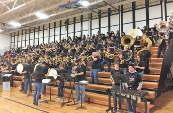The Fenton Pep Bands in action!