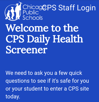 Health Screener for In-Person Students