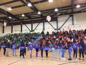 7th grade Rally! Green vs. Orange