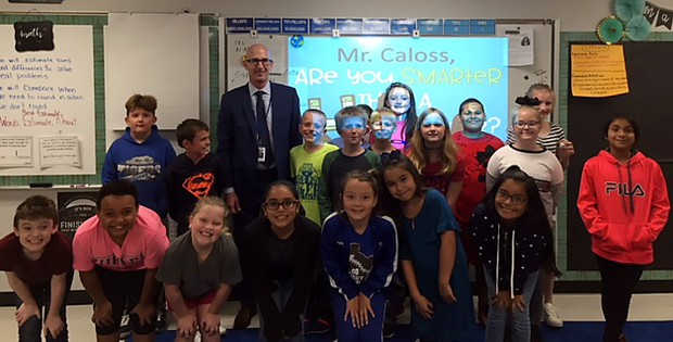 Caloss challenged by 4th graders