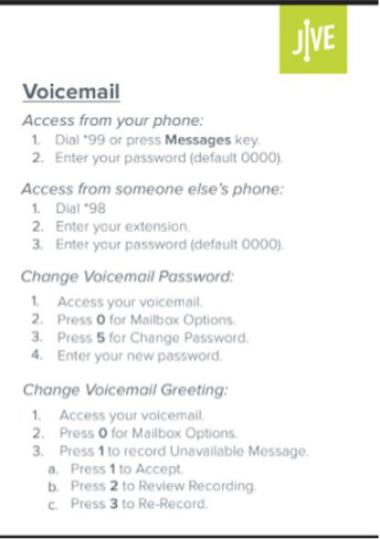 Update your Voicemail