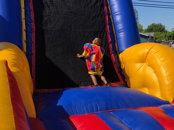 """""""Help! James is Stuck on the Velcro Wall!"""""""