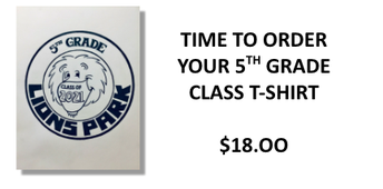 Last call for 5th grade t-shirts!