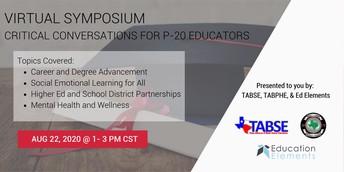 VIRTUAL SYMPOSIUM:  Critical Conversations for P-20 Educators