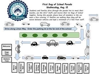 First Day of School Parade Map