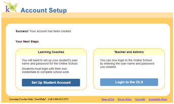 Student Account Set Up