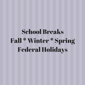 2017-2018 Scheduled Breaks/No School