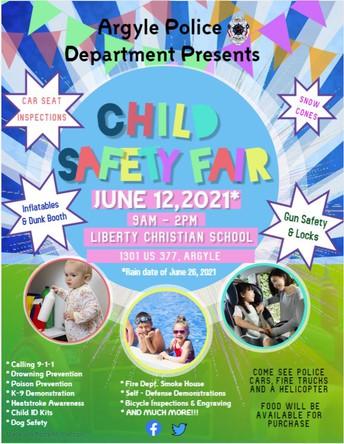 Argyle Police Hosting Child Safety Fair June 12