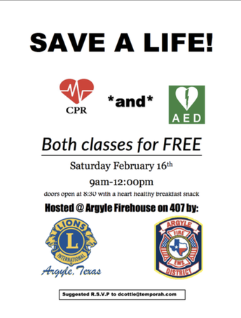 FREE CPR AND AED TRAINING - YOU COULD SAVE A LIFE!